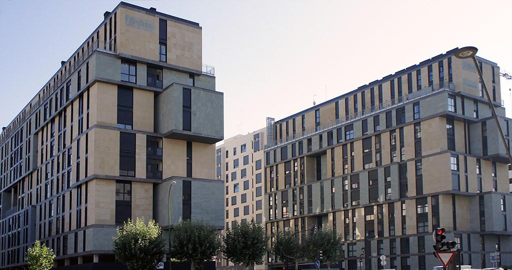 Fachada Ventilada Edificio de viviendas en Burgos