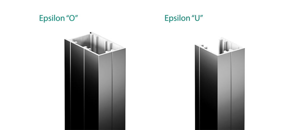 Anchorage Systems Epsilon: O, U - vertical profiles
