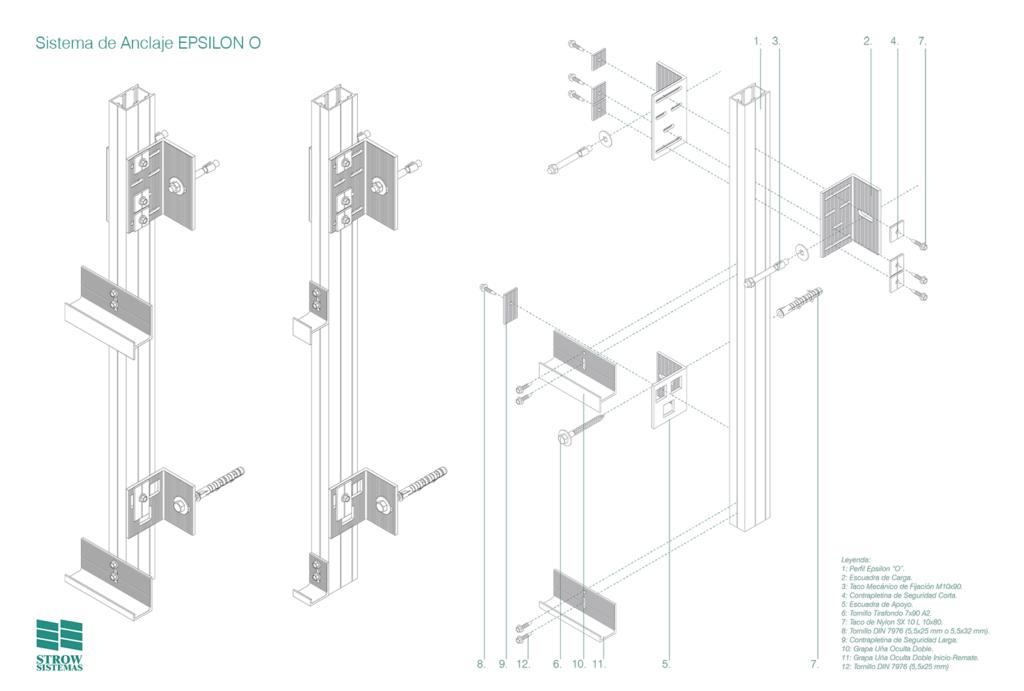 Sistema de Anclaje Epsilon O – Esquema de montaje general y partes