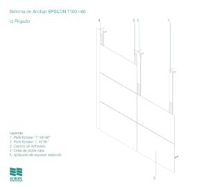 Anclaje Epsilon T100x60 – Esquema de montaje - Pegado