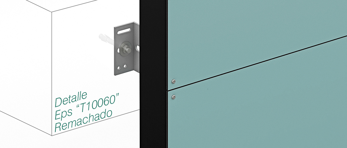 Anclaje Epsilon T100x60 – remachado - Strow Sistemas