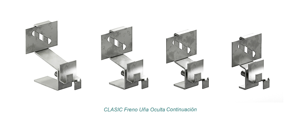 System CLASIC Hidden Clip - Freno. Continuation