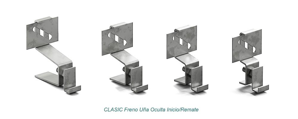 System CLASIC Hidden Clip - Freno. Start – Finish