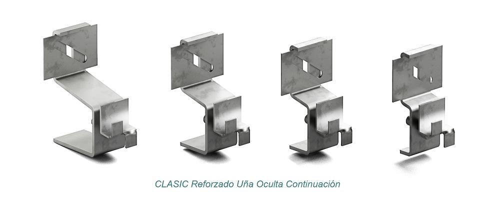 System CLASIC Hidden Clip - Reforzado. Continuation