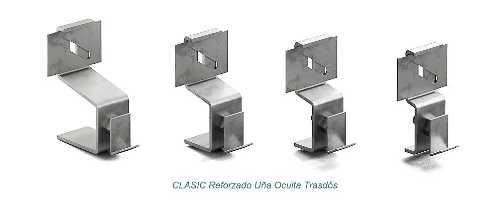System CLASIC Hidden Clip - Reforzado. Extrados