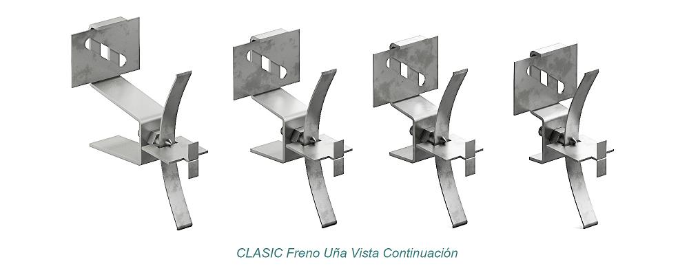 Anclaje CLASIC Uña Vista - Freno. Continuación