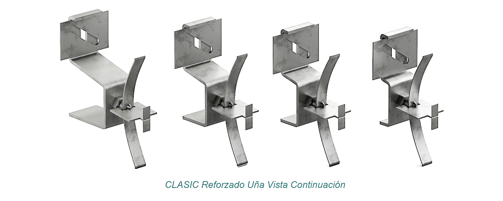 System CLASIC Visible Clip - Reforzado. Continuation