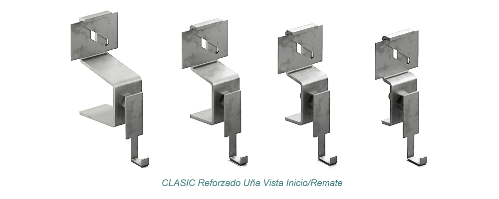 System CLASIC Visible Clip - Reforzado. Start – Finish