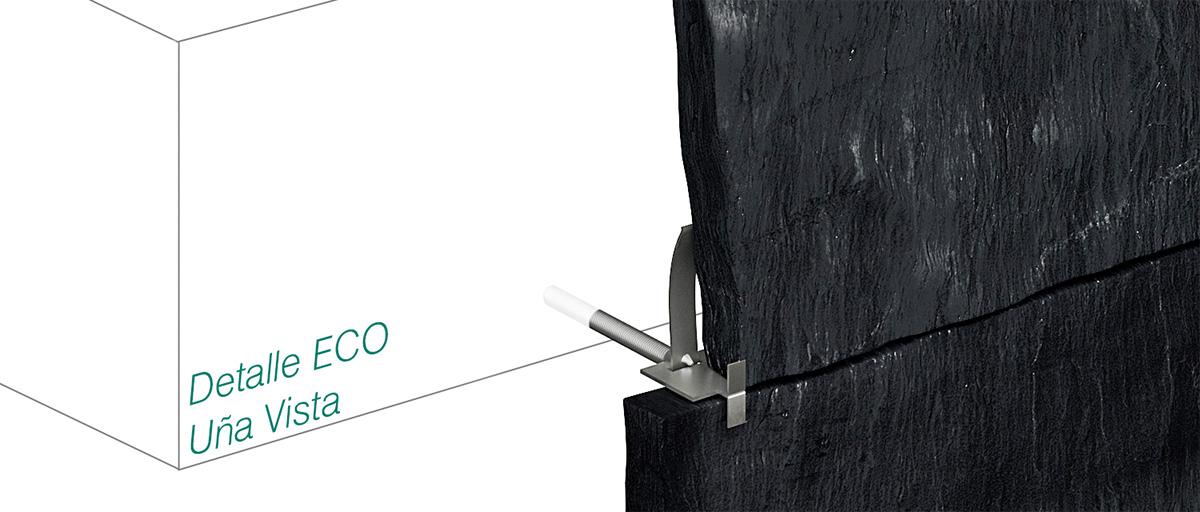 Anclaje ECO - uña vista pizarra - Strow Sistemas